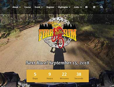 Fire On the Rim Mountain Bike Race
